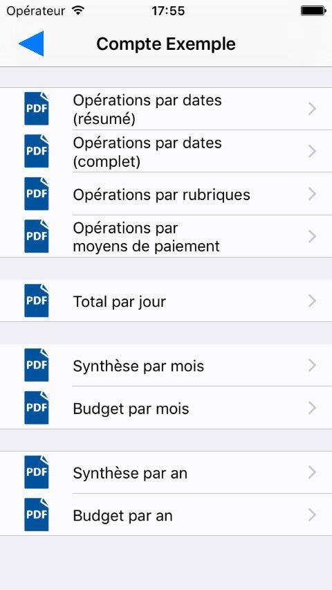 Nombreux rapports PDF